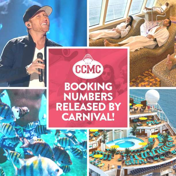 BOOKING NUMBERS RELEASED BY CARNIVAL!
