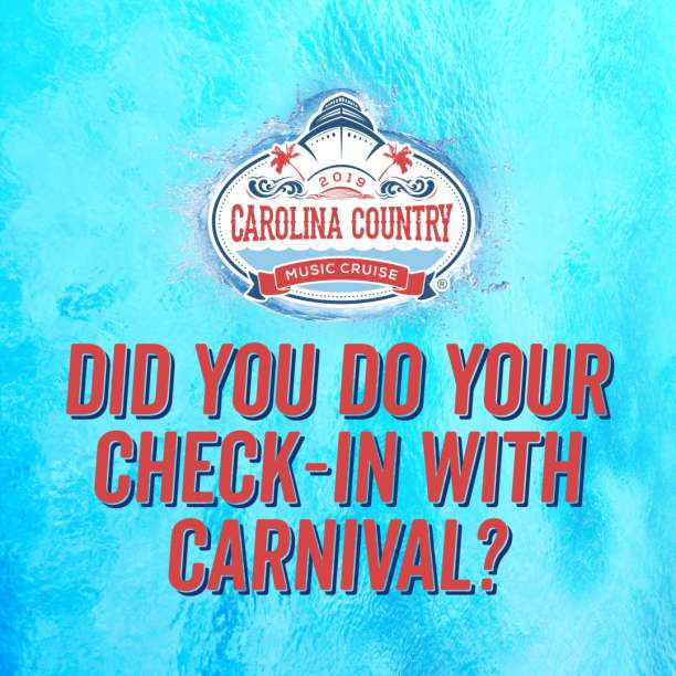 Did You Do Your Check-In With Carnival?